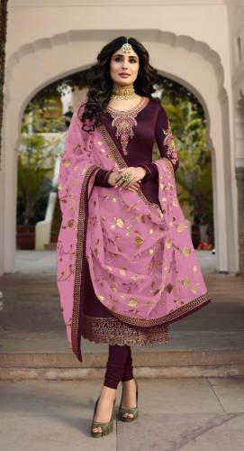 Wine Colour Heavy Cotton Designer Hand Work Salwar Suit For Wedding Wear