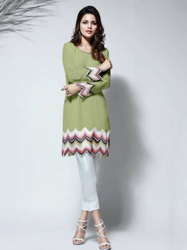 Amazing Green Color Diamond Heavy Georgette With embroidery work with Rayon Pant For women
