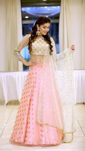 Bewildering Off White Net With Embroidered Work Lehenga Choli