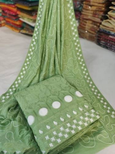 Alluring Green Modal Silk Work Designer Salwar Suit For Women