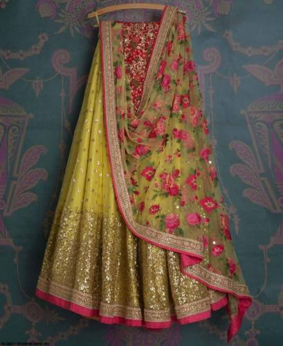 Extraordinary Orange Georgette With Embroidered Work Party Wear Lehenga Choli