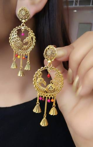 Innovative Gold Plate Multi Colour Artificial Earings KLP310