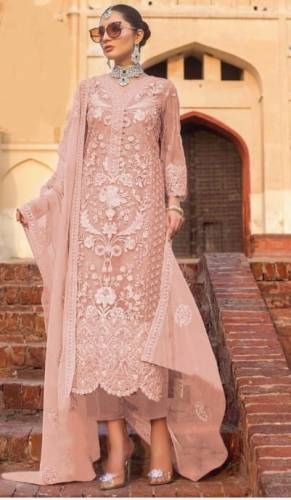 Pretty Amaranth Color Designer Heavy Soft Net Embroidered Stone Work Salwar Suit For Wedding Wear