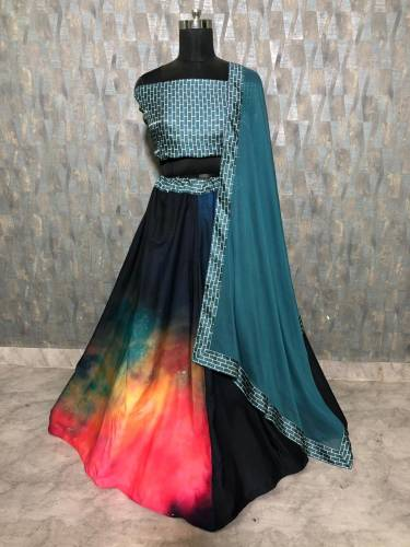 Charming Amazing print Silk Lehenga Choli Design For Function