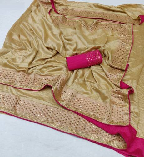 Amazing Function Wear Sana Silk Saree with Stone Work
